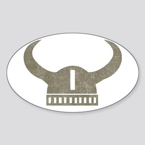 Vintage Viking Oval Sticker