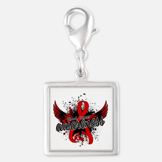 Blood Cancer Awareness 16 Silver Square Charm
