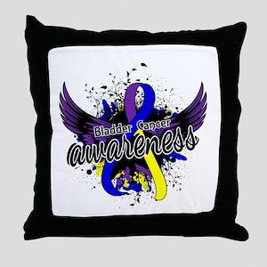 Bladder Cancer Awareness 16 Throw Pillow