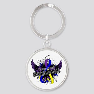 Bladder Cancer Awareness 16 Round Keychain