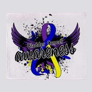 Bladder Cancer Awareness 16 Throw Blanket