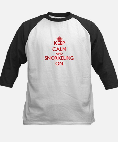 Keep Calm and Snorkeling ON Baseball Jersey