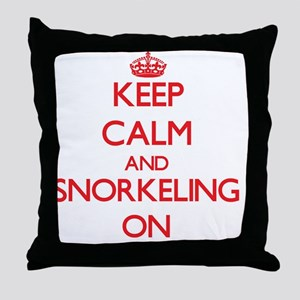 Keep Calm and Snorkeling ON Throw Pillow