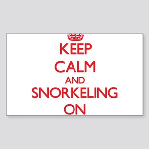 Keep Calm and Snorkeling ON Sticker