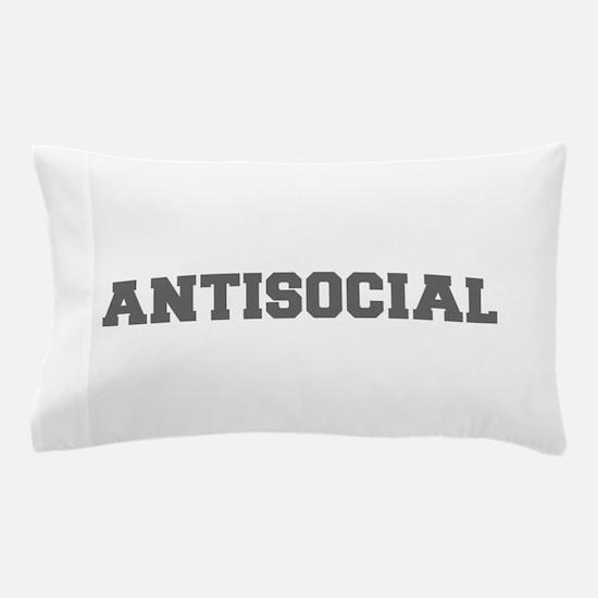 Antisocial-Fre gray 600 Pillow Case