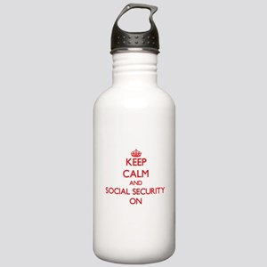 Keep Calm and Social S Stainless Water Bottle 1.0L