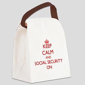 Keep Calm and Social Security ON Canvas Lunch Bag