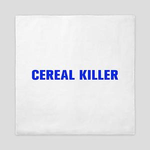 Cereal Killer-Akz blue 500 Queen Duvet