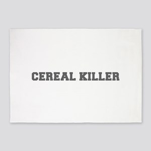 Cereal Killer-Fre gray 600 5'x7'Area Rug