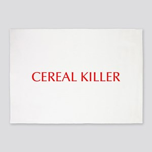 Cereal Killer-Opt red 550 5'x7'Area Rug