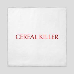 Cereal Killer-Opt red 550 Queen Duvet