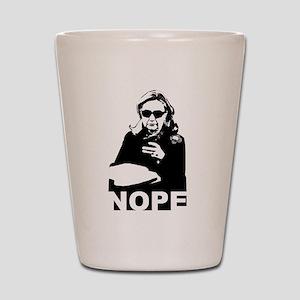 Clinton: Nope Shot Glass