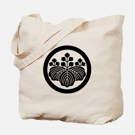 Paulownia with 5&3 blooms in circle Tote Bag