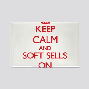 Keep Calm and Soft Sells ON Magnets