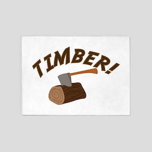 Timber! 5'x7'Area Rug