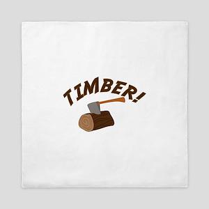 Timber! Queen Duvet