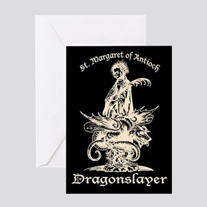 St. Margaret Dragonslayer Dark Greeting Card