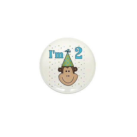 Monkey 2nd Birthday Mini Button