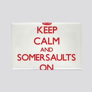 Keep Calm and Somersaults ON Magnets
