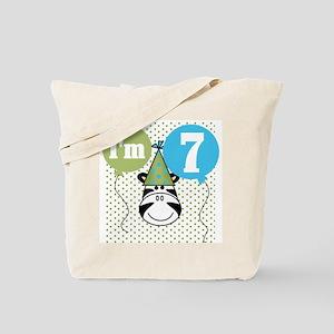 Zebra 7th Birthday Tote Bag