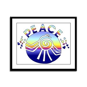 Planet Peace Framed Panel Print