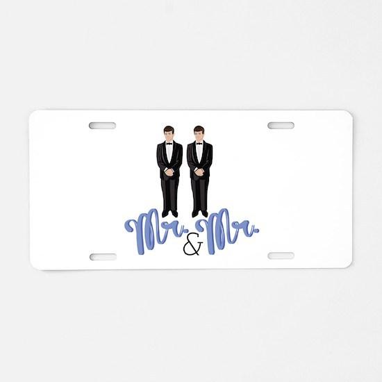 Mr.& Mr. Aluminum License Plate