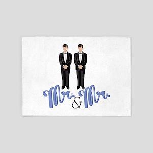 Mr.& Mr. 5'x7'Area Rug
