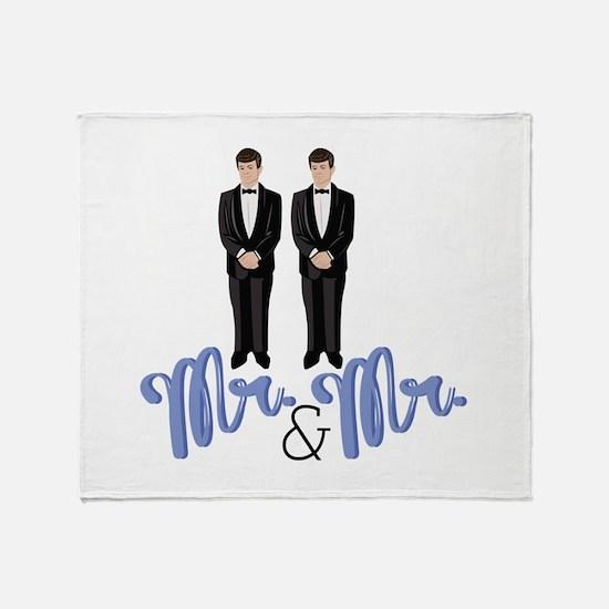 Mr.& Mr. Throw Blanket