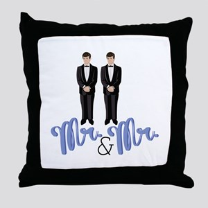 Mr.& Mr. Throw Pillow