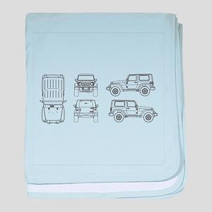 Jeep JK Wrangler Multi View baby blanket