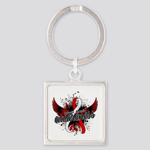 Aplastic Anemia Awareness 16 Square Keychain