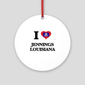 I love Jennings Louisiana Ornament (Round)
