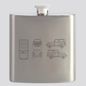 Jeep JK Wrangler Multi View Flask