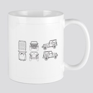 Jeep JK Wrangler Multi View Mugs