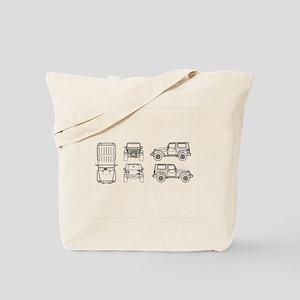 Jeep JK Wrangler Multi View Tote Bag