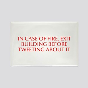 In case of fire exit building before tweeting abou