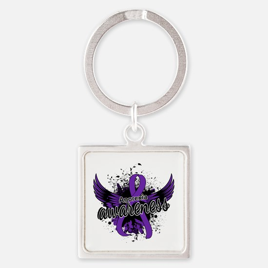 Anorexia Awareness 16 Square Keychain