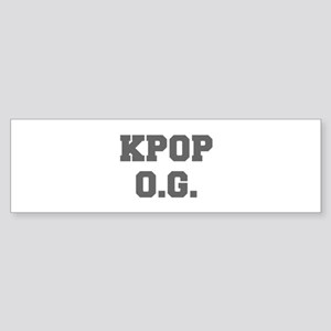 KPOP O G-Fre gray 600 Bumper Sticker