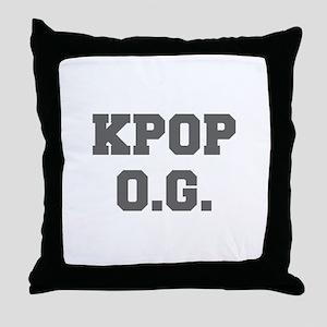 KPOP O G-Fre gray 600 Throw Pillow