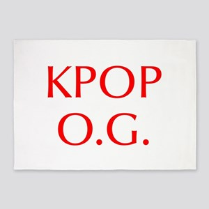 KPOP O G-Opt red 550 5'x7'Area Rug