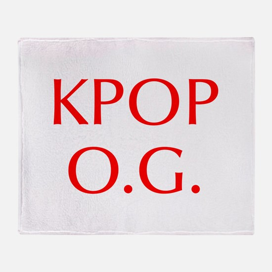 KPOP O G-Opt red 550 Throw Blanket