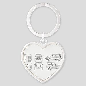 Jeep JK Wrangler Multi View Keychains