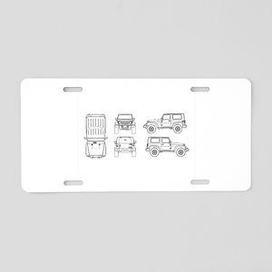 Jeep JK Wrangler Multi View Aluminum License Plate