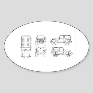 Jeep JK Wrangler Multi View Sticker
