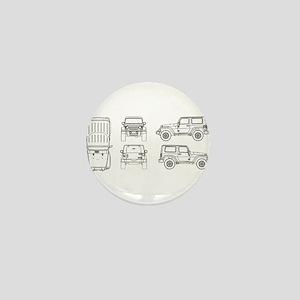 Jeep JK Wrangler Multi View Mini Button
