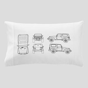Jeep JK Wrangler Multi View Pillow Case