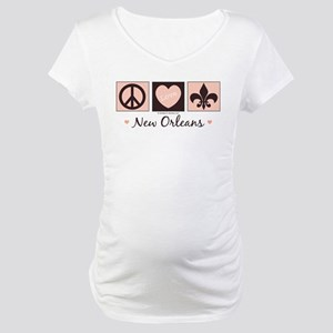 Peace Love New Orleans Maternity T-Shirt