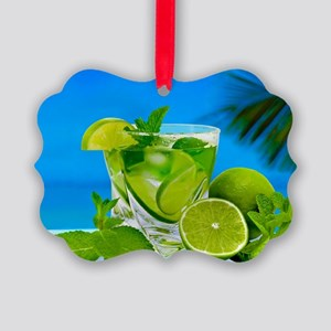 Fresh Water With Lemons And Mint Picture Ornament