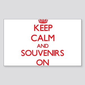 Keep Calm and Souvenirs ON Sticker