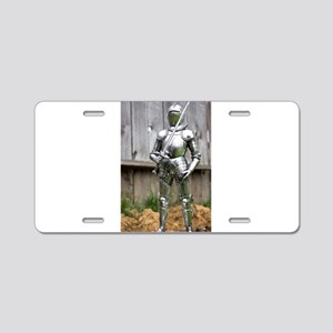 Country Knight Aluminum License Plate